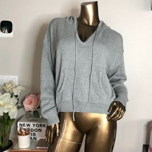 New with tags!! Honey punch gray hoodie sweater